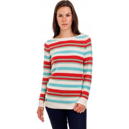Dámský svetr WOOX Stripy Ladies´ Jumper White  + Sleva 5% - zadej v košíku kód: SLEVA5