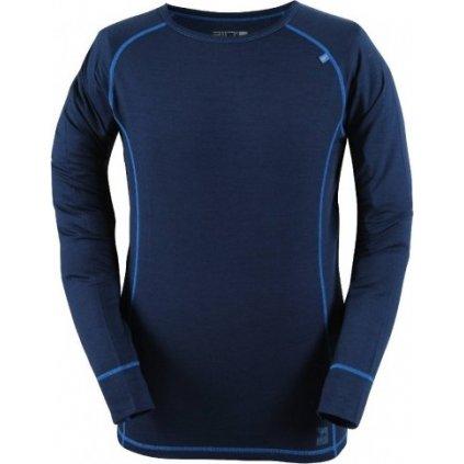 Pánský top s dlouhým rukávem (merino vlna) 2117 of Sweden Ullanger, barva modrá  + Sleva 5% - zadej v košíku kód: SLEVA5