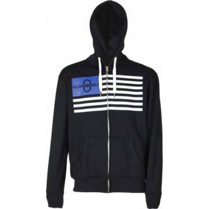 Pánská mikina Hood Jacket No.8 - Black-  + Sleva 5% - zadej v košíku kód: SLEVA5