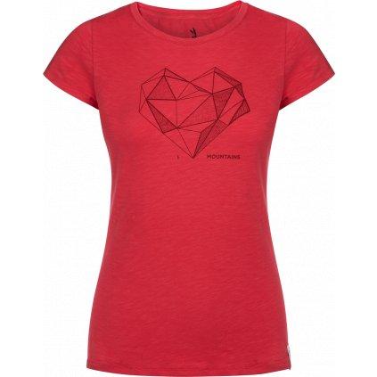 Dámské tričko ZAJO Corrine W T-shirt SS rudá