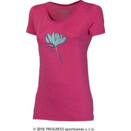 Dámské triko PROGRESS Sonata potisk lotus