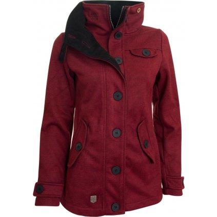 Dámský kabát WOOX Woolshell Ladies´ Jacket Red