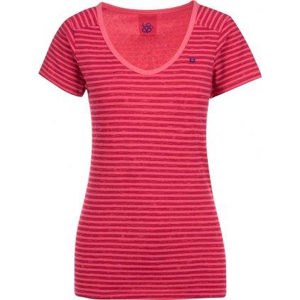Dámské triko s krátkým rukávem LOAP Bernice červená
