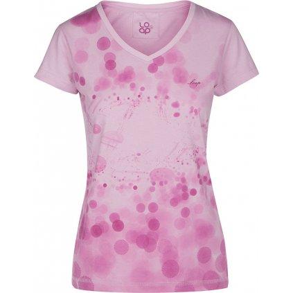Dámské triko s krátkým rukávem LOAP Byblosa růžová