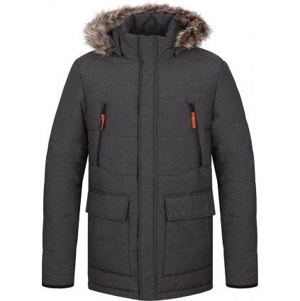 TRON pánská zimní bunda do města šedá