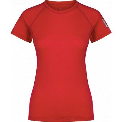 Dámské tričko ZAJO Elsa Merino W Tshirt SS rudá