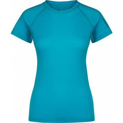 Dámské tričko ZAJO Elsa Merino W Tshirt SS modrá