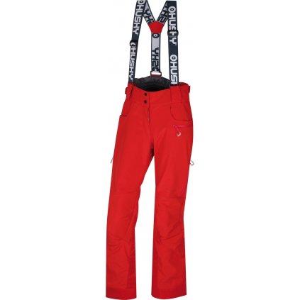 Dámské lyžařské kalhoty HUSKY  Galti L jemná červená