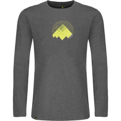 Pánské triko LOAP Alton s dlouhým rukávem šedá