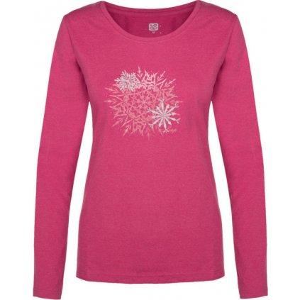 Dámské triko s dlouhým rukávem LOAP Babla růžová