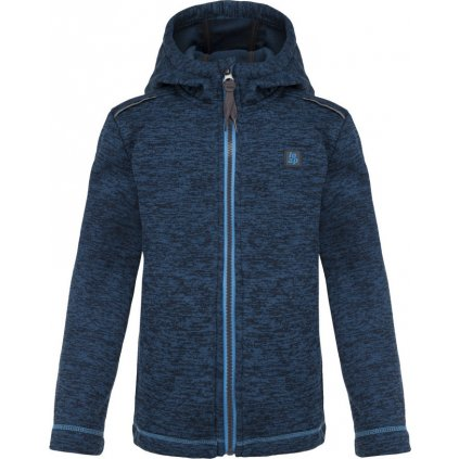 Dětský svetr LOAP Gitan s kapucí modrá