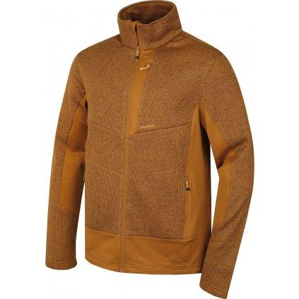 Pánská fleecová bunda HUSKY  Alan M tm. okrová