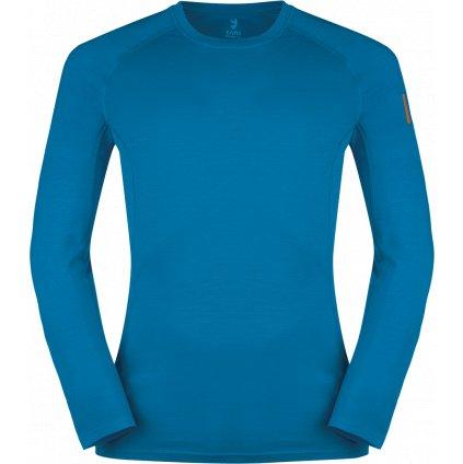 Pánské termo triko ZAJO Bjorn Merino Tshirt LS modrá
