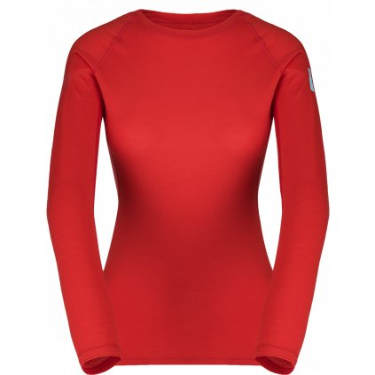 Dámské termo triko ZAJO Elsa Merino W Tshirt LS rudá