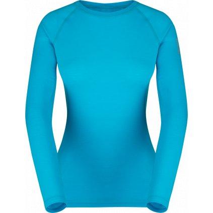 Dámské triko ZAJO Elsa Merino W Tshirt LS modrá