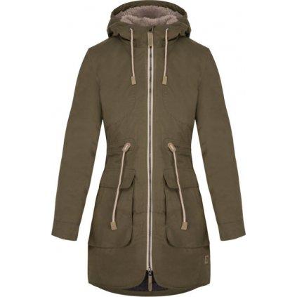 Dámský kabát do města LOAP Noela zelená