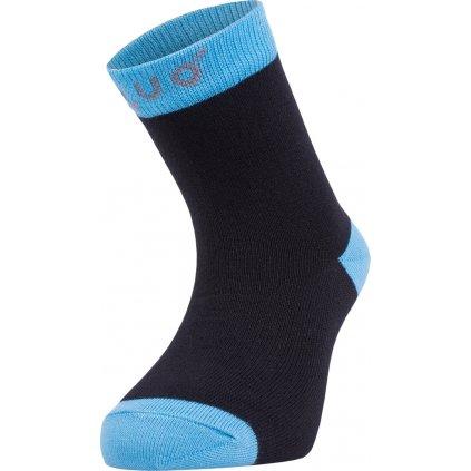 Bambusové ponožky UNUO černé s tyrkysovou (Bamboo socks)