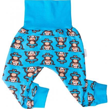 Dětské turkáče-tepláčky UNUO opičáci na modré
