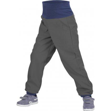 Batolecí softshellové kalhoty UNUO s fleecem Antracitové (Softshell toodler trousers)