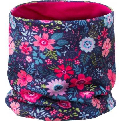 Dětský nákrčník UNUO UNI fleece Květinky