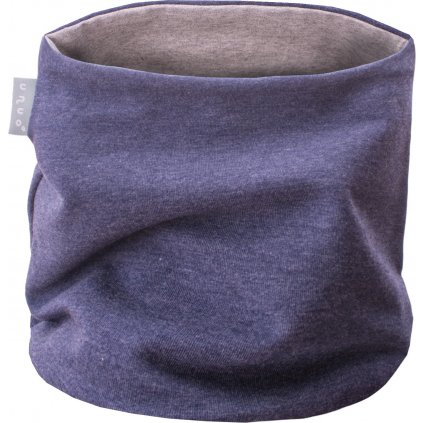 Dětský nákrčník UNUO UNI Jeans modrý melír