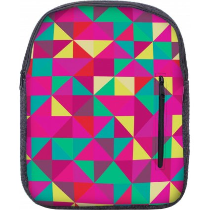 Designový batoh UNUO Triangl růžový