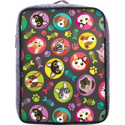 Dětský batoh UNUO Kočka/pes holka