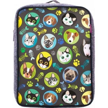 Dětský batoh UNUO Kočka/pes kluk