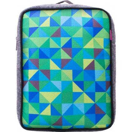 Dětský batoh UNUO Triangl modrozelený