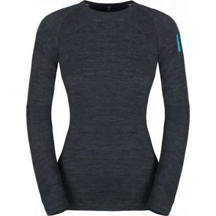Dámské termo tričko ZAJO Nora Merino W T-shirt LS černá