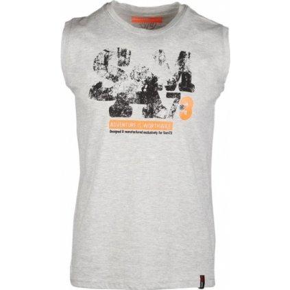 Pánské triko bez rukávů SAM 73 šedá světlá