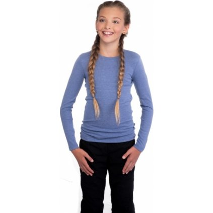 Dívčí triko SAM 73 s dlouhým rukávem modrá