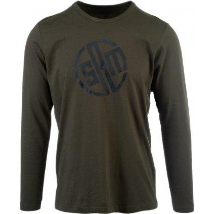 Pánské triko SAM 73 s dlouhým rukávem  army