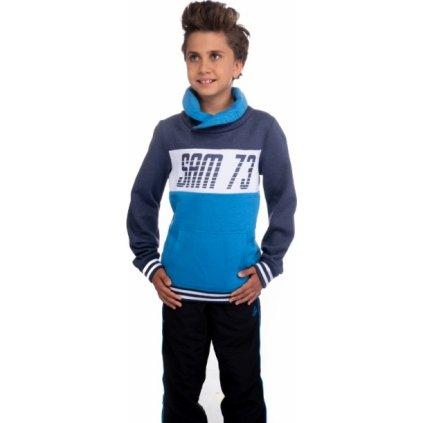 Chlapecká mikina SAM 73 modrá jasná
