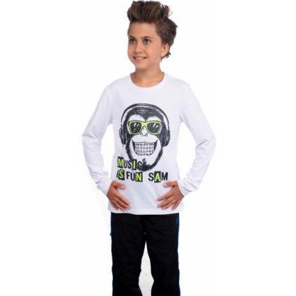 Chlapecké tričko SAM 73 s dlouhým rukávem bílá