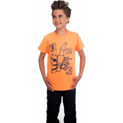 Chlapecké tričko SAM 73 s krátkým rukávem oranžová