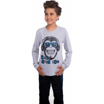Chlapecké tričko SAM 73 s dlouhým rukávem šedá světlá