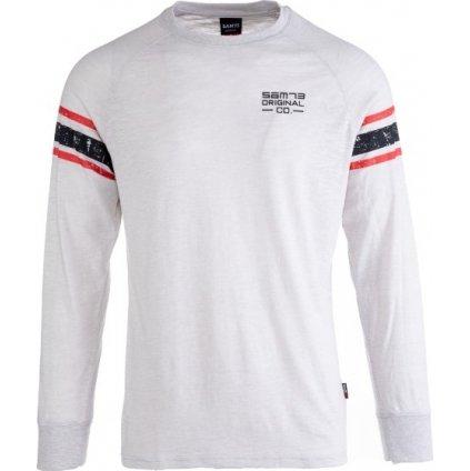 Pánské triko SAM 73 s dlouhým rukávem  šedá světlá