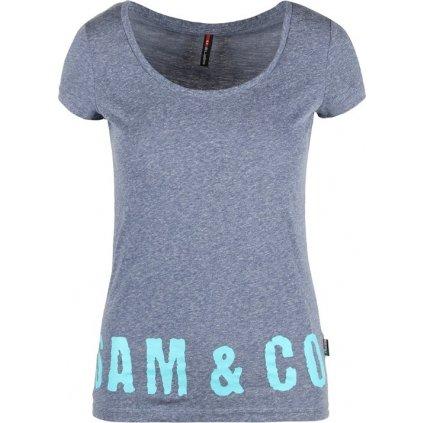 Dámské triko SAM 73 modrá kobaltová