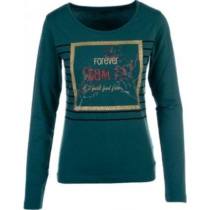 Dámské triko s dlouhým rukávem SAM 73 Tmavě zelená