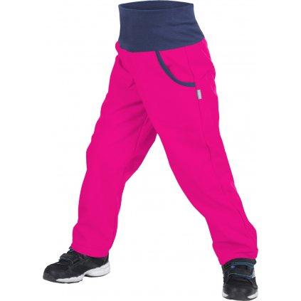 Dětské softshellové kalhoty UNUO s fleecem Fuchsiové (Softshell kids trousers)