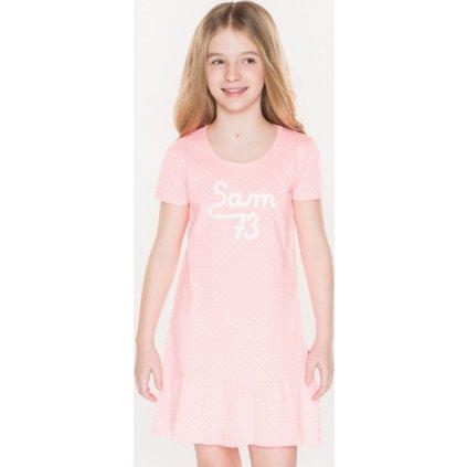 Dívčí šaty SAM 73 růžová neon