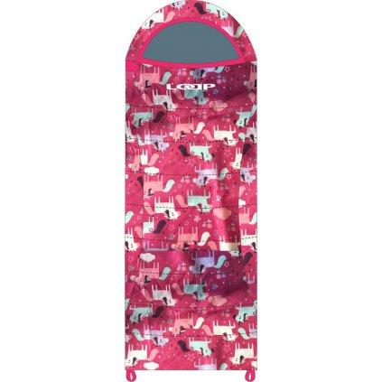 Spací pytel dekový LOAP Dinos růžová