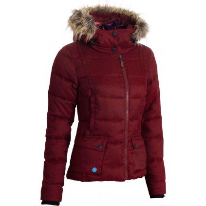 Dámská zimní bunda WOOX Fog Twill Ladies´ Jacket Red