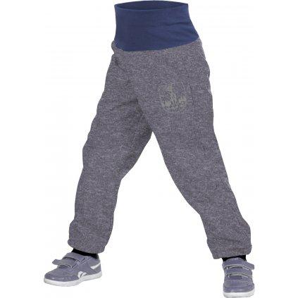 Batolecí softshellové kalhoty UNUO s fleecem Melír šedý + reflexní obrázek Evžen