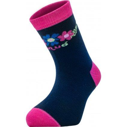 Bambusové ponožky UNUO  Květinky (Bamboo socks printed)