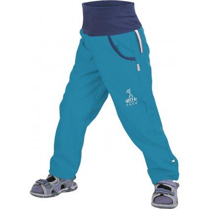 Softshellové kalhoty bez zateplení UNUO  Aqua + reflexní obrázek Evžen
