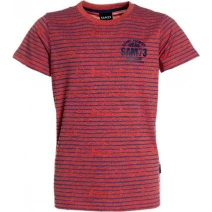 Chlapecké triko s krátkým rukávem SAM 73  červená