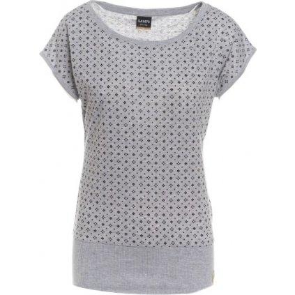 Dámské triko s krátkým rukávem SAM 73 šedá světlá