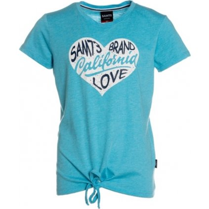 Dívčí triko s krátkým rukávem SAM 73  modrá neon